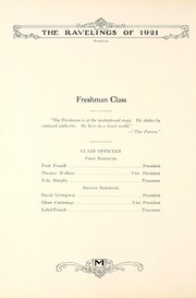 Page 82, 1921 Edition, Monmouth College - Ravelings Yearbook (Monmouth, IL) online yearbook collection
