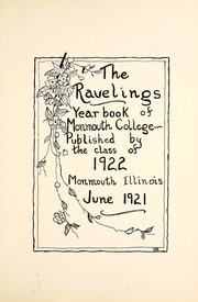 Page 9, 1922 Edition, Monmouth College - Ravelings Yearbook (Monmouth, IL) online yearbook collection