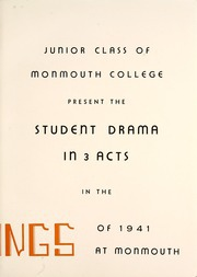 Page 11, 1941 Edition, Monmouth College - Ravelings Yearbook (Monmouth, IL) online yearbook collection
