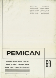 Page 9, 1969 Edition, Central High School - Pemican Yearbook (High Point, NC) online yearbook collection