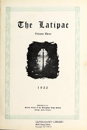 Page 5, 1932 Edition, Needham Broughton High School - Latipac Yearbook (Raleigh, NC) online yearbook collection