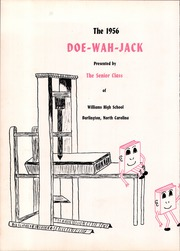Page 4, 1956 Edition, Williams High School - Doe Wah Jack Yearbook (Burlington, NC) online yearbook collection