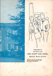 Page 7, 1960 Edition, Hoke County High School - Ekoh Yearbook (Raeford, NC) online yearbook collection