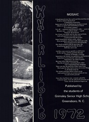 Page 7, 1972 Edition, Grimsley High School - Whirligig Yearbook (Greensboro, NC) online yearbook collection