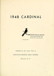 Page 5, 1948 Edition, Newton Conover High School - Cardinal Yearbook (Newton, NC) online yearbook collection