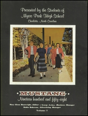 Page 7, 1958 Edition, Myers Park High School - Mustang Yearbook (Charlotte, NC) online yearbook collection
