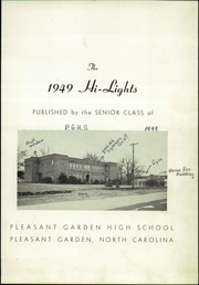 Page 5, 1949 Edition, Pleasant Garden High School - Hi Lights Yearbook (Pleasant Garden, NC) online yearbook collection
