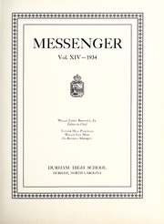 Page 9, 1934 Edition, Durham High School - Messenger Yearbook (Durham, NC) online yearbook collection