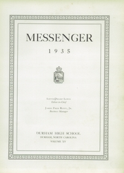Page 9, 1935 Edition, Durham High School - Messenger Yearbook (Durham, NC) online yearbook collection