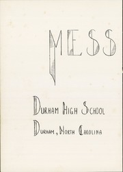 Page 6, 1938 Edition, Durham High School - Messenger Yearbook (Durham, NC) online yearbook collection