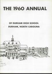 Page 7, 1960 Edition, Durham High School - Messenger Yearbook (Durham, NC) online yearbook collection