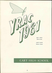Page 8, 1961 Edition, Cary High School - YRAC Yearbook (Cary, NC) online yearbook collection