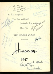 Page 5, 1947 Edition, Rocky Mount High School - Hi Noc Ar Yearbook (Rocky Mount, NC) online yearbook collection