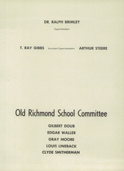 Page 9, 1955 Edition, Richmond High School - Treasure Chest Yearbook (Rockingham, NC) online yearbook collection