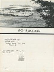 Page 6, 1978 Edition, Parkland High School - Spectatus Yearbook (Winston Salem, NC) online yearbook collection