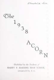 Page 5, 1938 Edition, Harding High School - Acorn Yearbook (Charlotte, NC) online yearbook collection