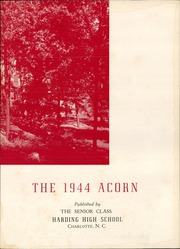 Page 7, 1944 Edition, Harding High School - Acorn Yearbook (Charlotte, NC) online yearbook collection