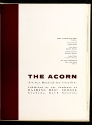 Page 9, 1964 Edition, Harding High School - Acorn Yearbook (Charlotte, NC) online yearbook collection