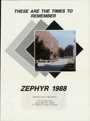 Page 5, 1988 Edition, Westover High School - Zephyr Yearbook (Fayetteville, NC) online yearbook collection
