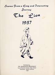 Page 5, 1957 Edition, West Charlotte High School - Lion Yearbook (Charlotte, NC) online yearbook collection