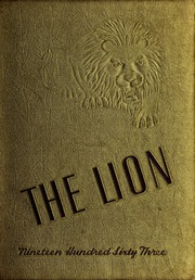 1963 Edition, West Charlotte High School - Lion Yearbook (Charlotte, NC)