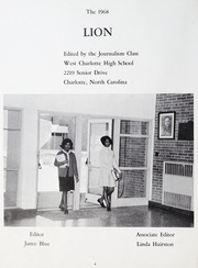 Page 8, 1968 Edition, West Charlotte High School - Lion Yearbook (Charlotte, NC) online yearbook collection