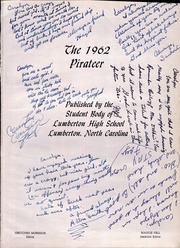 Page 5, 1962 Edition, Lumberton High School - Pirateer Yearbook (Lumberton, NC) online yearbook collection