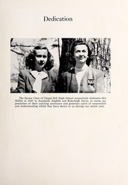 Page 7, 1947 Edition, Chapel Hill High School - Hill Life Yearbook (Chapel Hill, NC) online yearbook collection