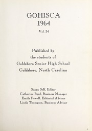 Page 5, 1964 Edition, Goldsboro High School - Gohisca Yearbook (Goldsboro, NC) online yearbook collection