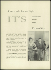 Page 10, 1959 Edition, A L Brown High School - Albrokan Yearbook (Kannapolis, NC) online yearbook collection