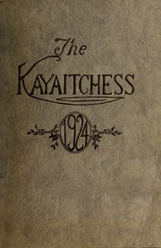 1924 Edition, Kinston High School - Kay Aitch Ess Yearbook (Kinston, NC)