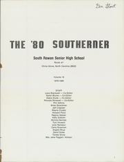 Page 5, 1980 Edition, South Rowan High School - Southerner Yearbook (China Grove, NC) online yearbook collection