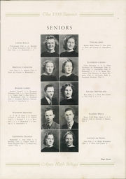 Page 11, 1939 Edition, Apex High School - Summit Yearbook (Apex, NC) online yearbook collection