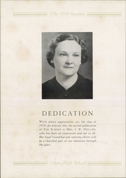 Page 6, 1939 Edition, Apex High School - Summit Yearbook (Apex, NC) online yearbook collection