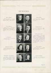 Page 9, 1939 Edition, Apex High School - Summit Yearbook (Apex, NC) online yearbook collection
