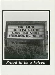 Page 5, 1982 Edition, Southeast Guilford High School - Talon Yearbook (Greensboro, NC) online yearbook collection