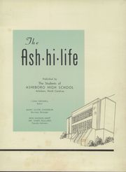 Page 7, 1956 Edition, Asheboro High School - Ash Hi Life Yearbook (Asheboro, NC) online yearbook collection