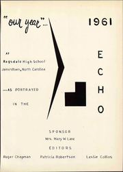 Page 7, 1961 Edition, Ragsdale High School - Echo Yearbook (Jamestown, NC) online yearbook collection
