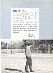 Page 5, 1970 Edition, Ragsdale High School - Echo Yearbook (Jamestown, NC) online yearbook collection
