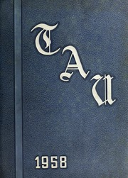 1958 Edition, J H Rose High School - Tau Yearbook (Greenville, NC)