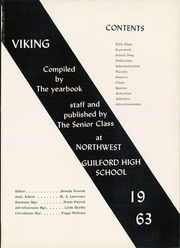 Page 5, 1963 Edition, Northwest Guilford High School - Viking Yearbook (Greensboro, NC) online yearbook collection
