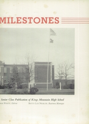 Page 7, 1941 Edition, Kings Mountain High School - Milestones Yearbook (Kings Mountain, NC) online yearbook collection