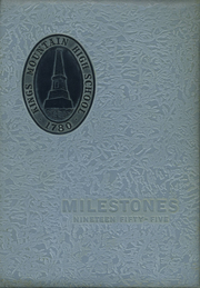 Kings Mountain High School - Milestones Yearbook (Kings Mountain, NC) online yearbook collection, 1955 Edition, Page 1