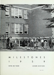 Page 9, 1959 Edition, Kings Mountain High School - Milestones Yearbook (Kings Mountain, NC) online yearbook collection
