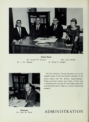 Page 10, 1961 Edition, Kings Mountain High School - Milestones Yearbook (Kings Mountain, NC) online yearbook collection