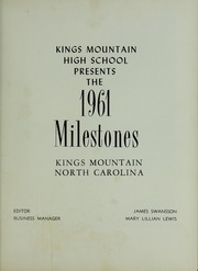 Page 5, 1961 Edition, Kings Mountain High School - Milestones Yearbook (Kings Mountain, NC) online yearbook collection