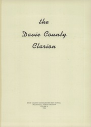 Page 5, 1958 Edition, Davie County High School - Clarion Yearbook (Mocksville, NC) online yearbook collection