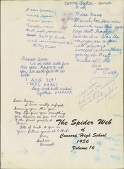 Page 5, 1956 Edition, Concord High School - Spider Web Yearbook (Concord, NC) online yearbook collection