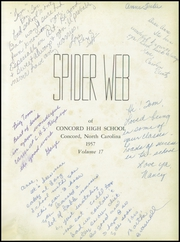 Page 5, 1957 Edition, Concord High School - Spider Web Yearbook (Concord, NC) online yearbook collection