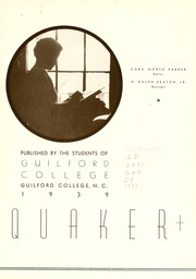 Page 7, 1939 Edition, Guilford College - Quaker Yearbook (Greensboro, NC) online yearbook collection